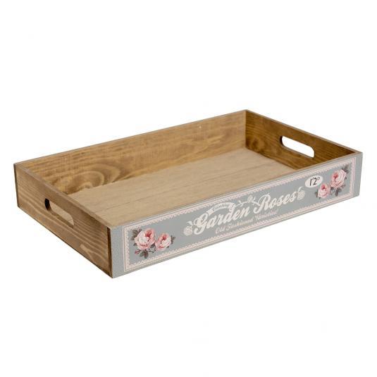 Garden Roses Wooden Produce Tray