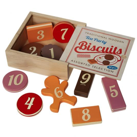 Traditional Tea Party Biscuits number Game