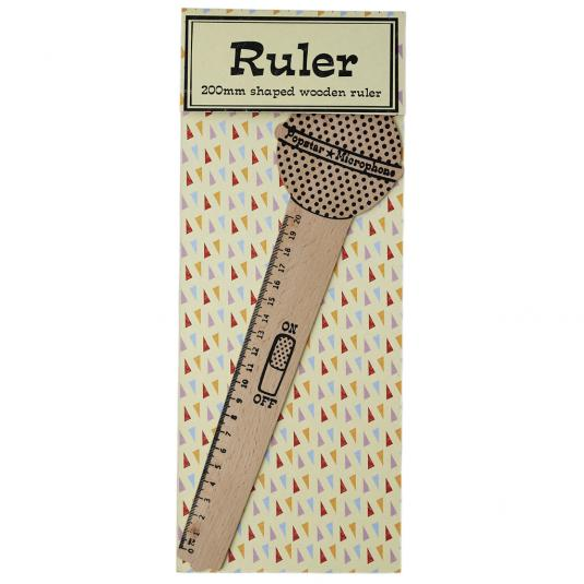 Microphone Wooden Ruler