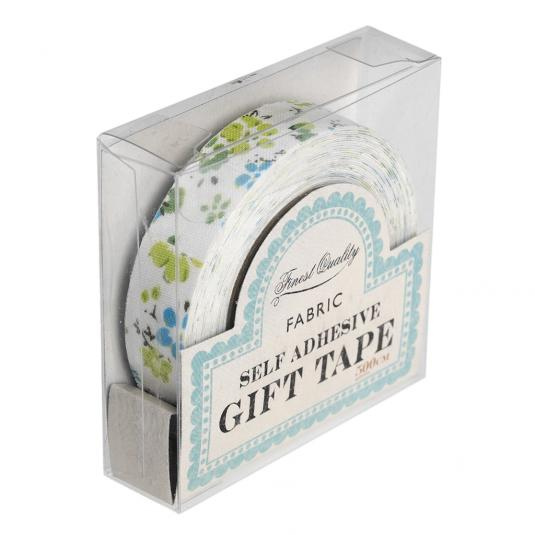 Blue Floral Fabric Sticky Gift Tape