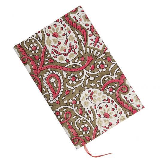 Pink Paisley print Notebook