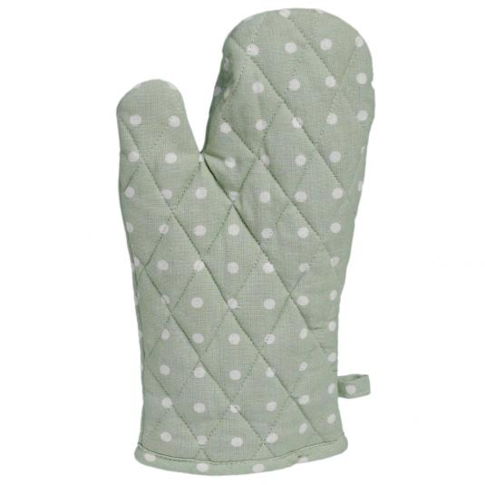 mint green spotty oven glove