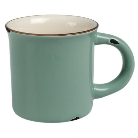 Green Enamel Style Ceramic Mug