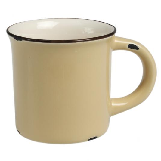 Yellow Enamel Style Ceramic Mug