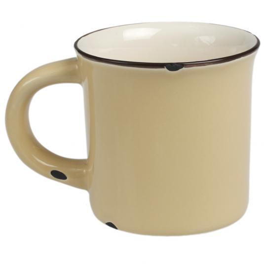 Yellow Normandy Enamel Style Ceramic Mug