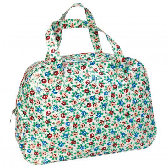 Rambling Rose design Oilcloth Weekend Bag