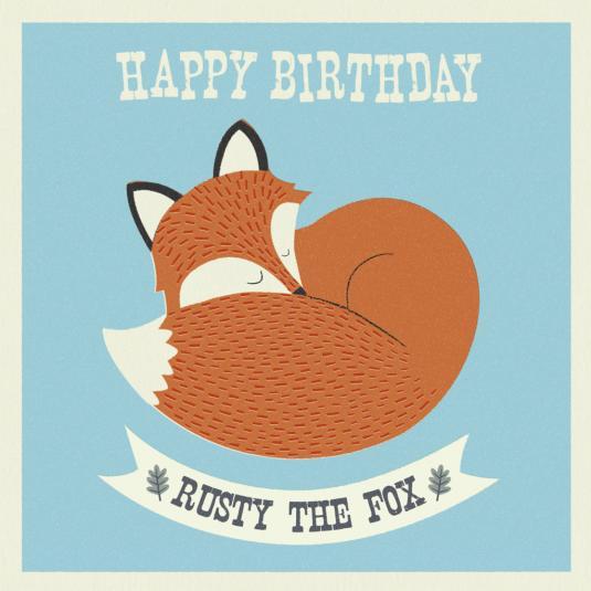 Rusty The Fox Card
