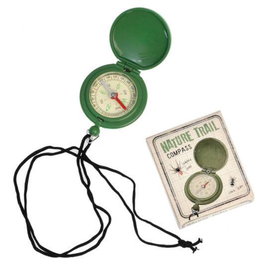 Nature Trail Green Plastic Kids Mini Compass