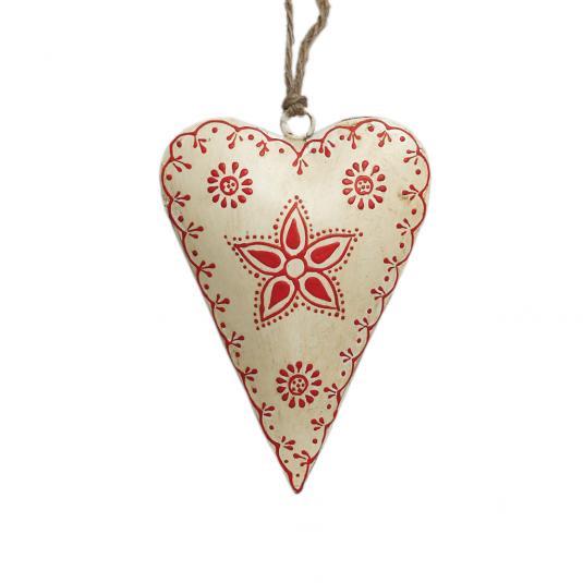 Small Cream Rustic Flower Heart