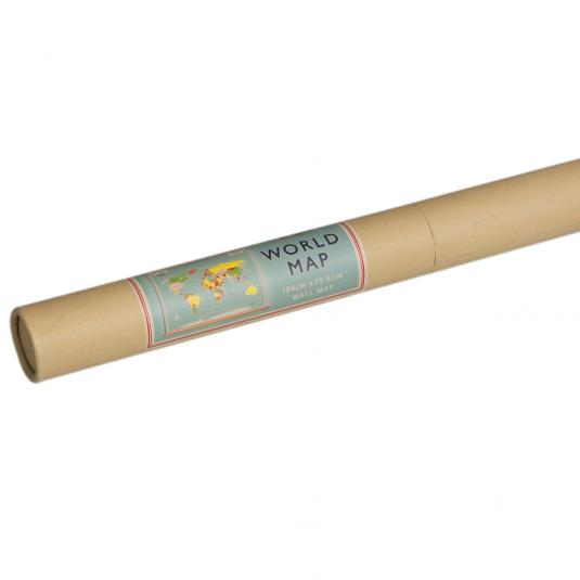 World Map Wall Chart in a Tube