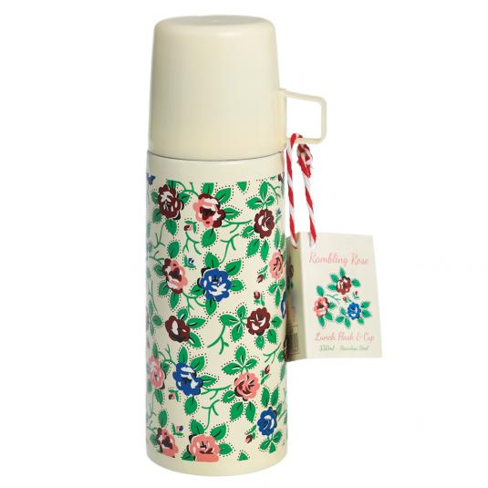 Floral Flask And Cup