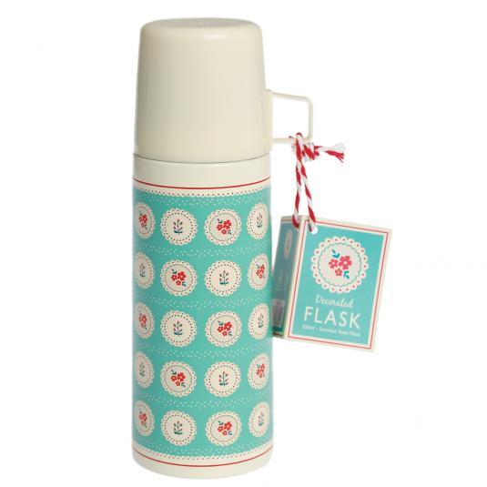 Vintage Doily Flask And Cup