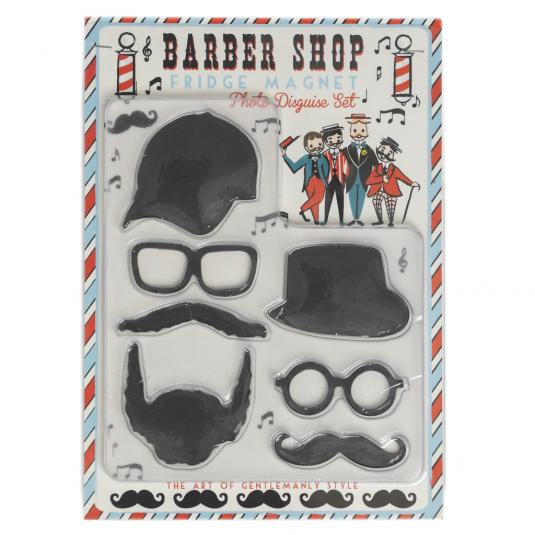 Barber Shop Magnetic Photo Disguise Set