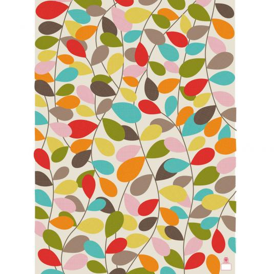 5 Sheets Of Vintage Ivy Design Wrapping Paper