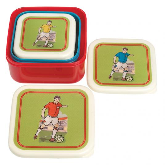 Set Of 3 Football Snack Boxes