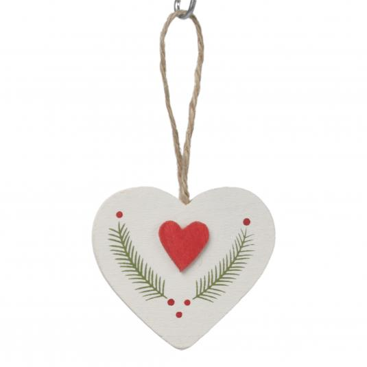 Laurel Heart Hanging Decoration
