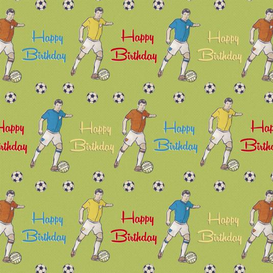 5 Sheets Of Football Fun Wrapping Paper