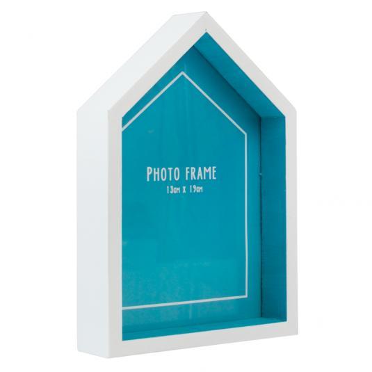 Beach Hut Photo Frame Blue