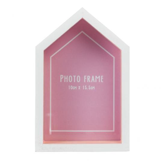 Beach Hut Photo Frame Pink