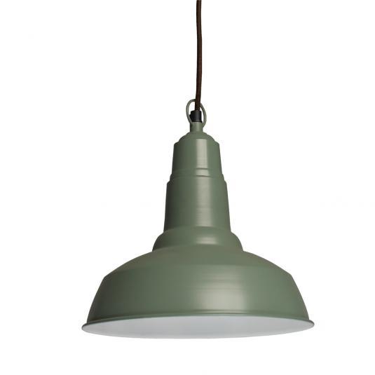 Small Metal Lampshade Green