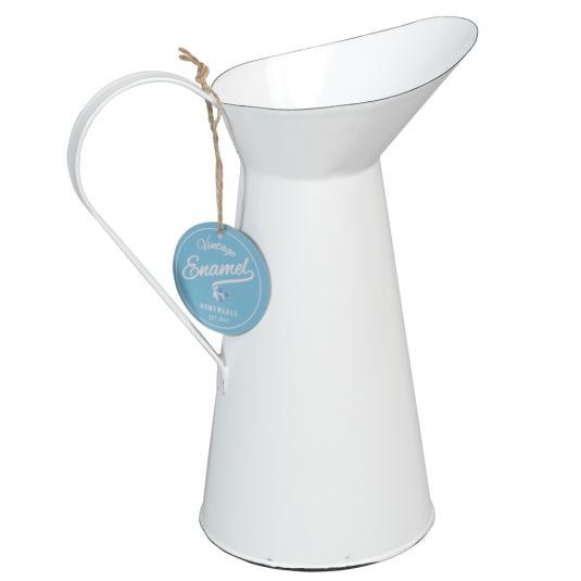White Enamel Water Jug