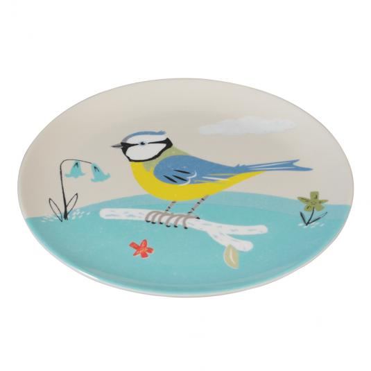 Blue Tit Bird Print Melamine Plate