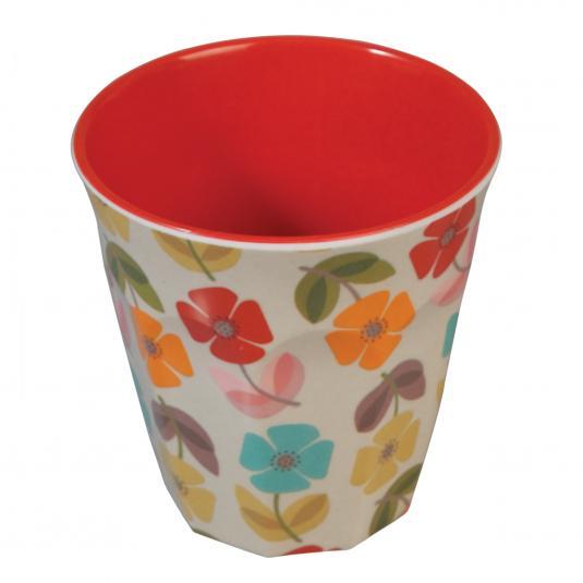 Melamine Cup Retro Floral Print