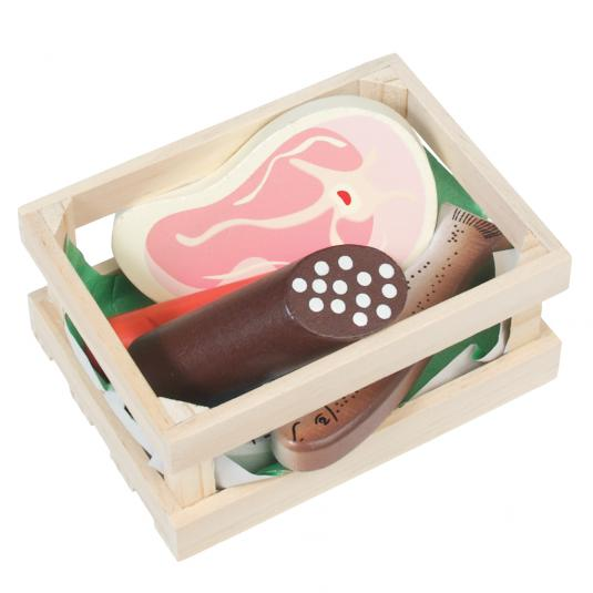 5 Piece Butcher's Produce Wooden Play Set