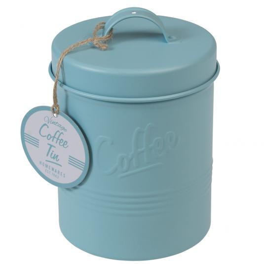 Forties Style Embossed Coffee Tin