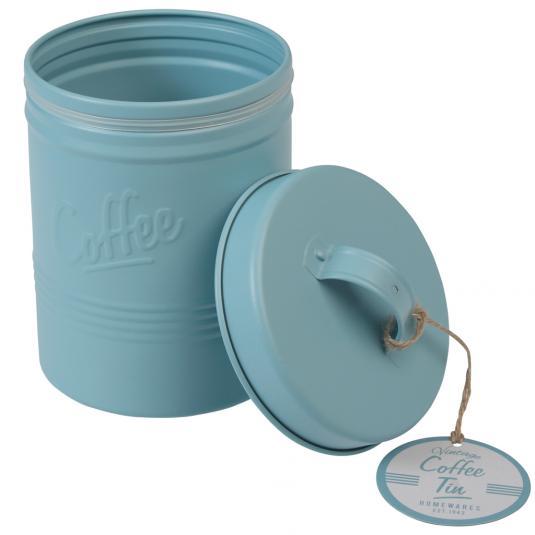 Blue Retro Coffee Tin