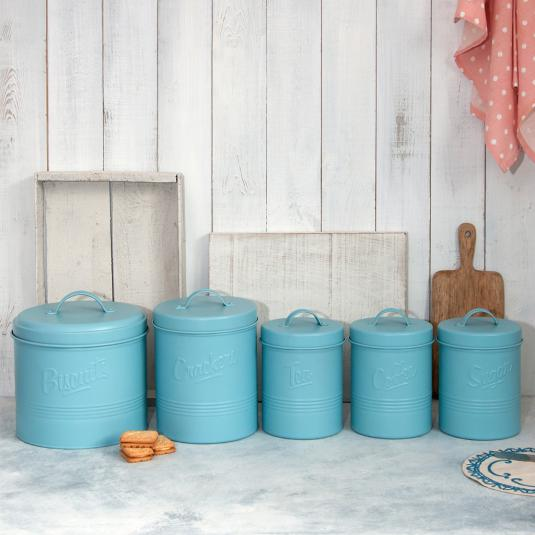 Forties Style Embossed Storage Tins