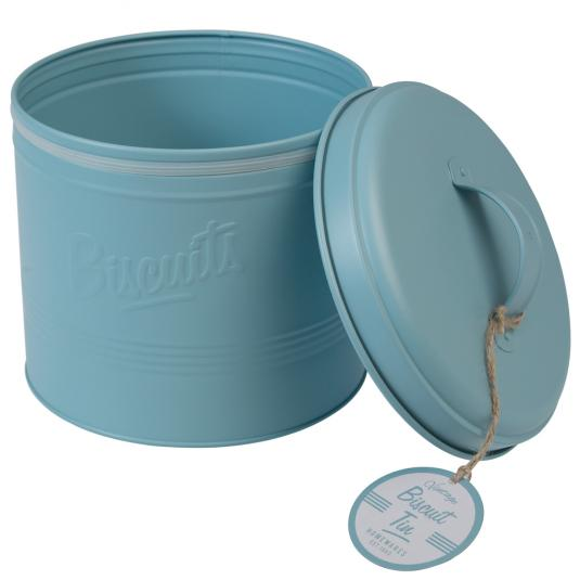 Forties Style Embossed Biscuit Tin