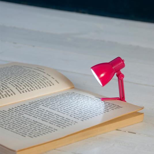 Mini Reading Book Lamp Pink