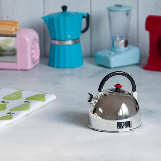 Silver Kettle Kitchen Timer