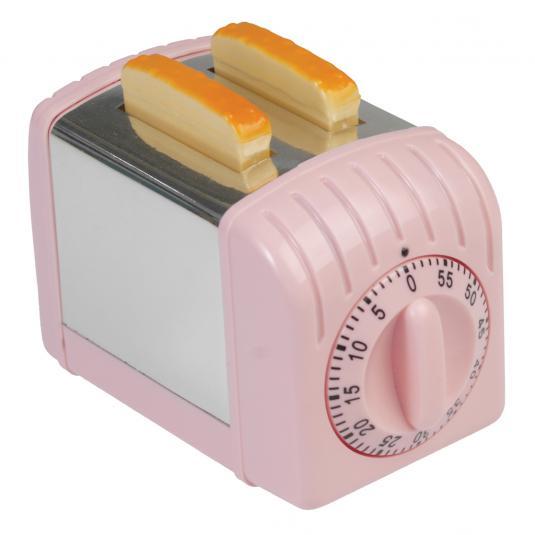Pink Toaster Kitchen Timer