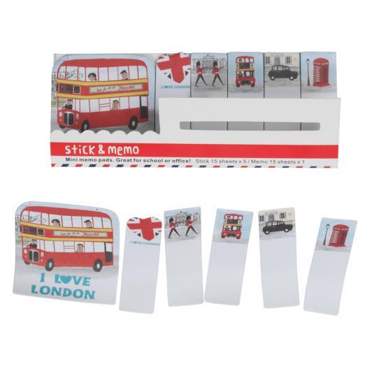 I Love London Mini Memo Pads