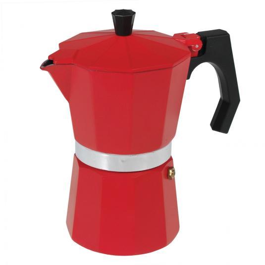 Classic Espresso Coffee Pot Red