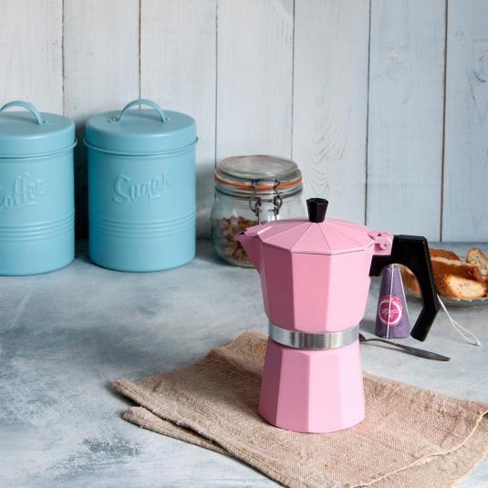 Classic Espresso Coffee Pot Pink