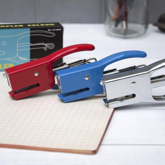 Silver Dog Mini Stapler