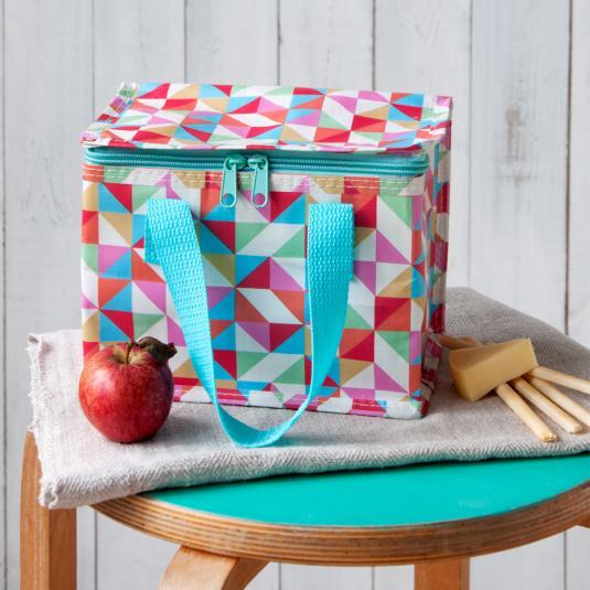 Multicolour Geometric Cool Bag