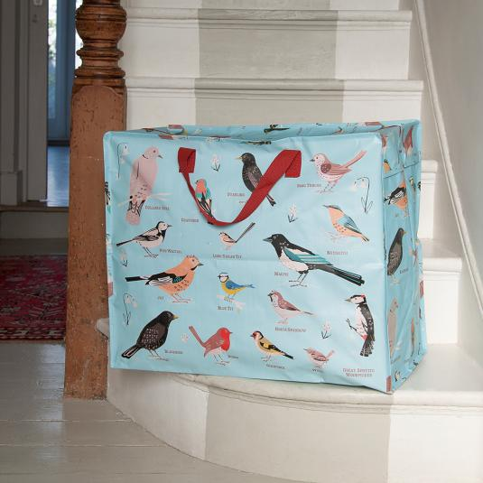 Garden Birds Design Jumbo Storage Bag