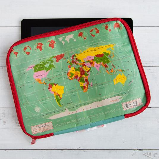 World Map Tablet Case