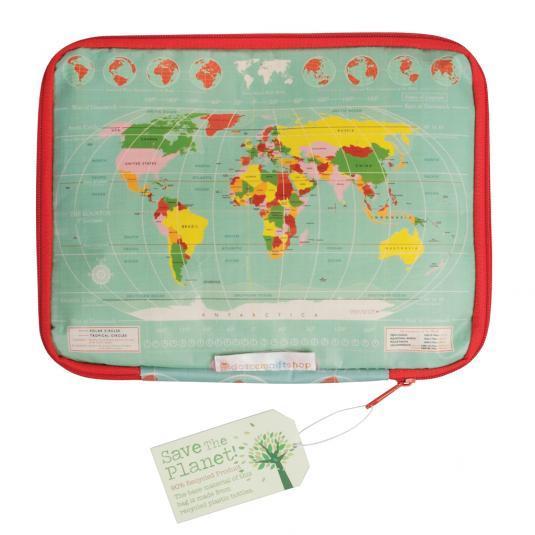 World Map Print Tablet Case
