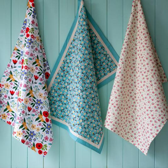 Floral Cotton Tea Towels