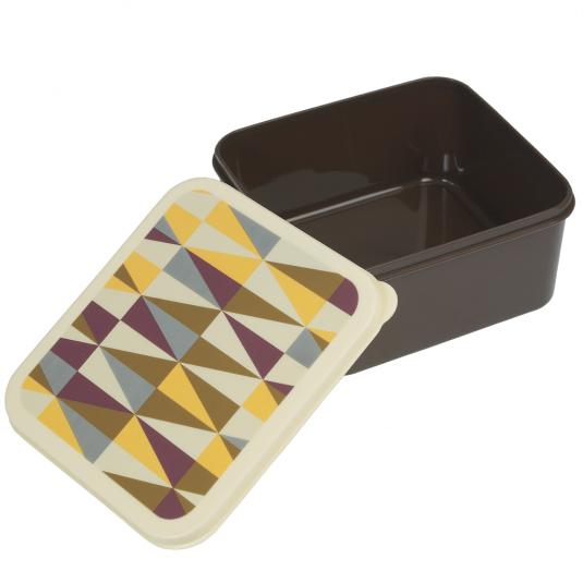Mens Brown Lunch Box