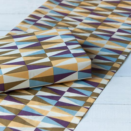 Pack Of 10 Metro Geometric Tissue Paper