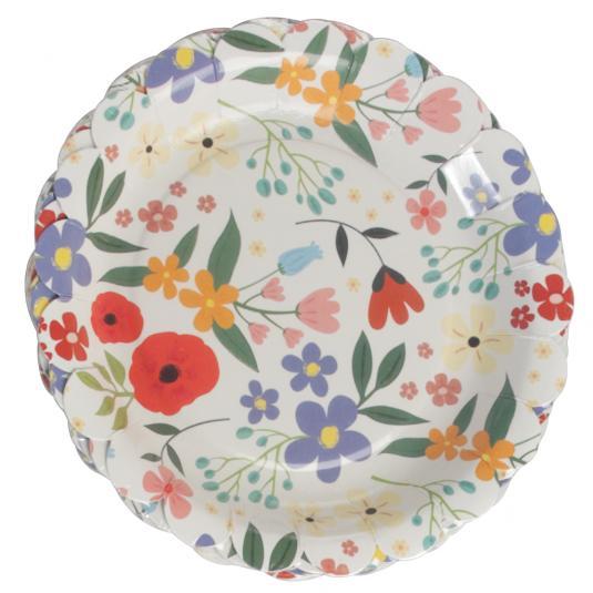 Floral Party Plates