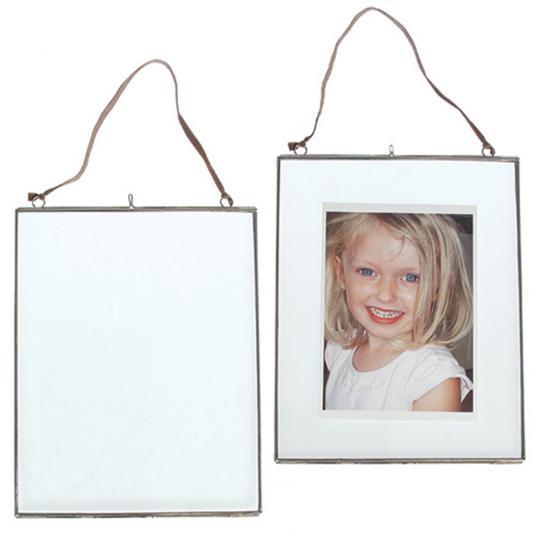 Large Glass Hanging Photo Frame