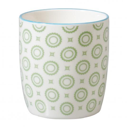 Japanese Style Mug Green Circles