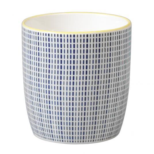 Japanese Style Mug Blue Graphic Dash